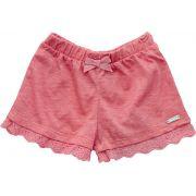 71.082 - Shorts com Flamê Detalhado na Barra