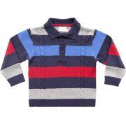 81.209 - Camisa Polo com Tranças e Listras