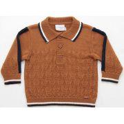 81.255 - Camisa Polo com Ponto Losangos
