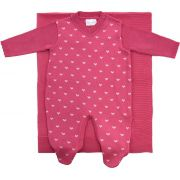 AE11.036  - Saída Maternidade Jacquard Coração