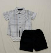 AE20.023 - Conjunto Body com Camisa Xadrez
