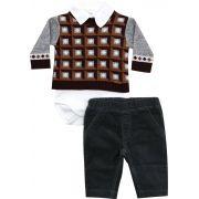 AE20.062 - Conjunto de Body Sweater Jacquard
