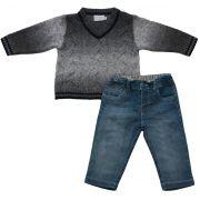 AE21.048 - Conjunto com Sweater e Calça Jeans