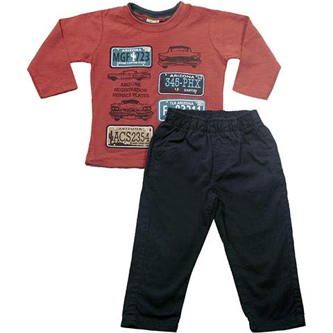 Conjunto Camiseta Flame e Calça Sarja - Have Fun