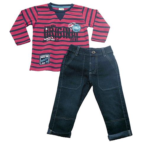 H21.112 - Conjunto Camiseta Malhão Calça Jeans - Have Fun