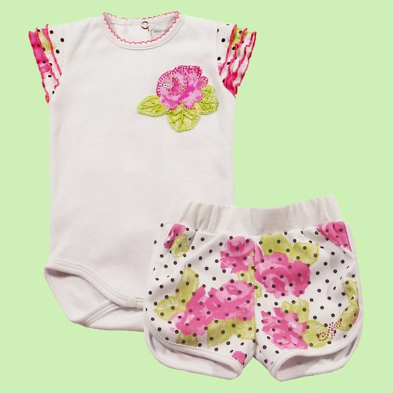 Conjunto Body silk rosas com poa  - Loja Noruega