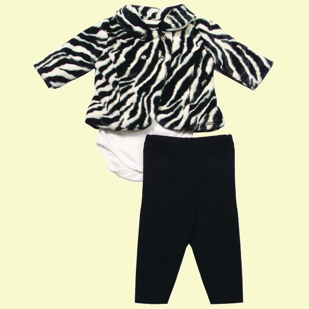 Conjunto Body Zebra  - Loja Noruega