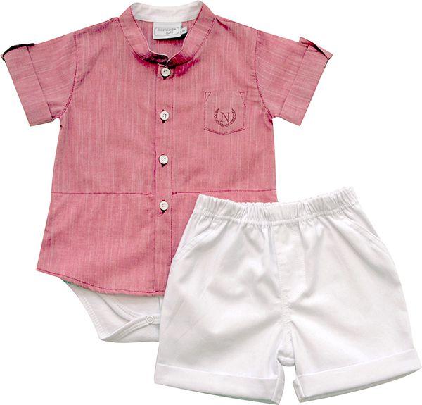 20.538 - Conjunto Body Camisa com Gola