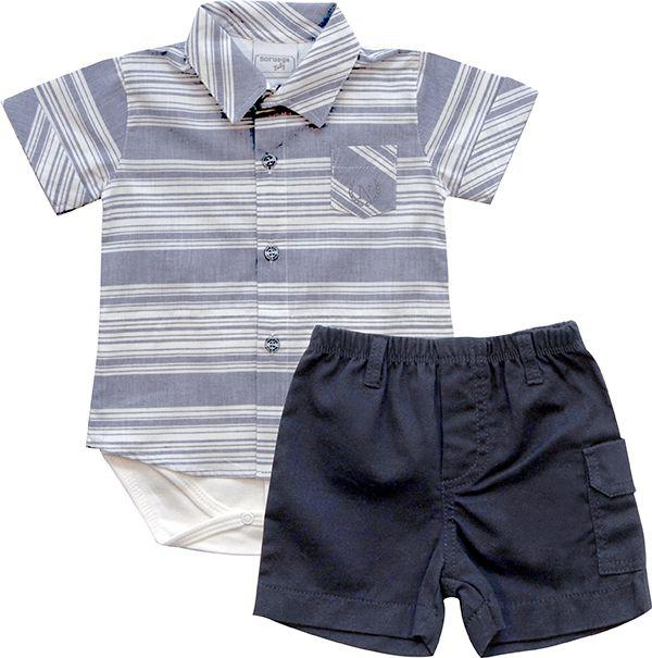 20.540 - Conjunto Camisa Listrada