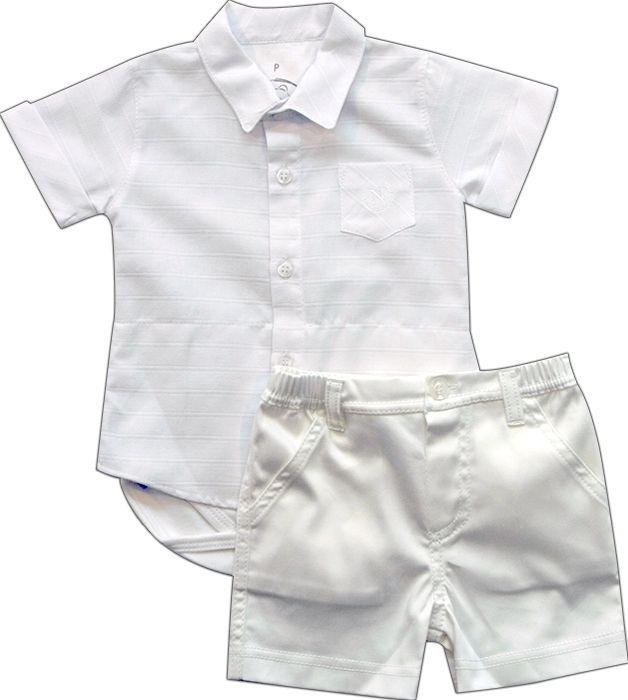 20.545 - Conjunto de Body Camisa Batizado
