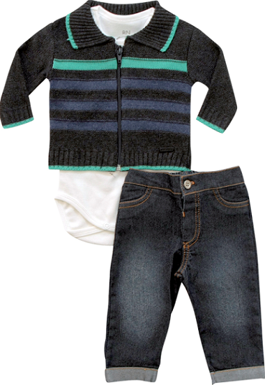 20.569 - Conjunto Body Jeans com Casaco