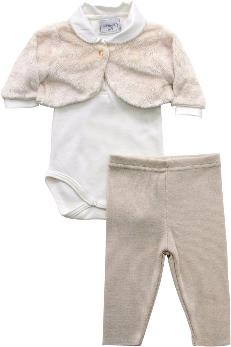 20.575 - Conjunto Body com Casaco de Pele