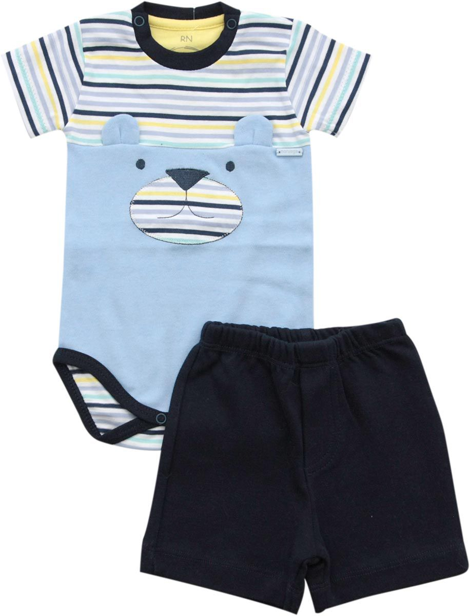 20.615 - Conjunto Body Bordado Urso