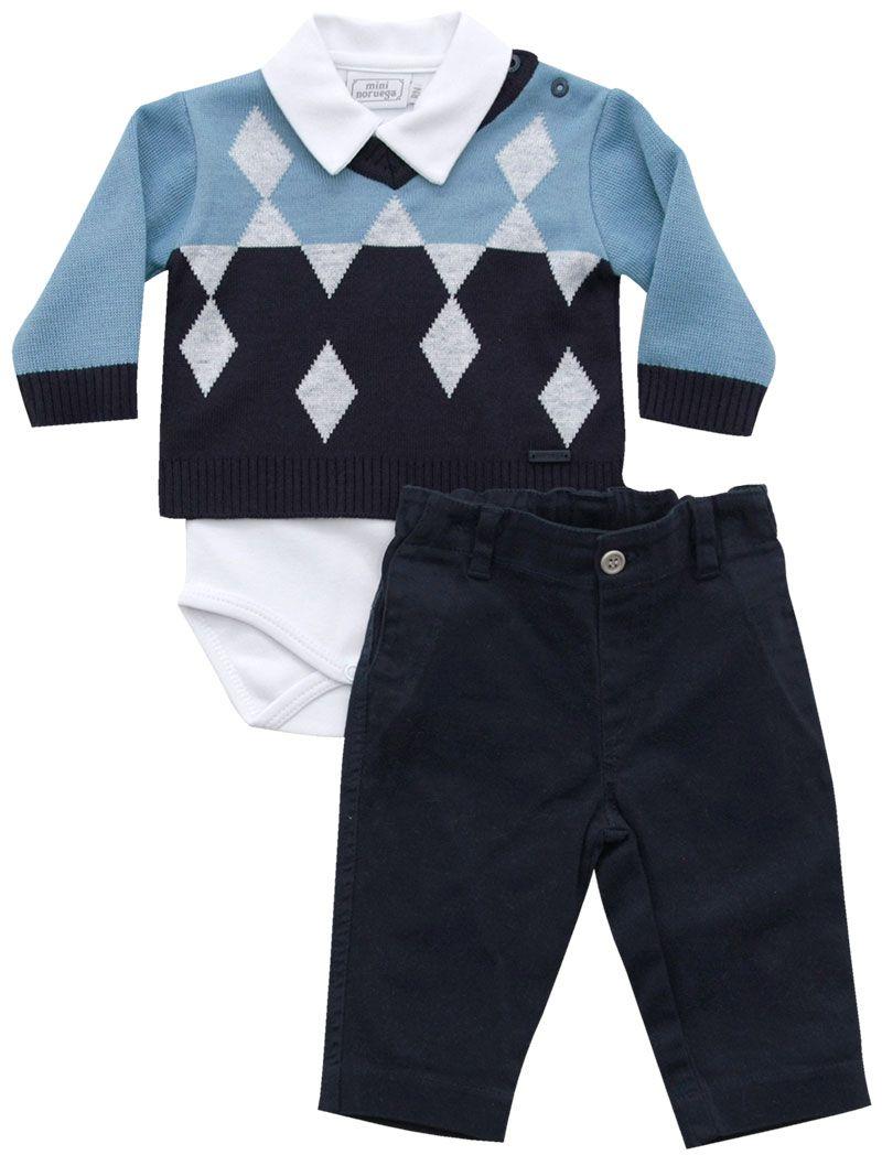 20.666 - Conjunto Body Sweater Jacquard Losangos