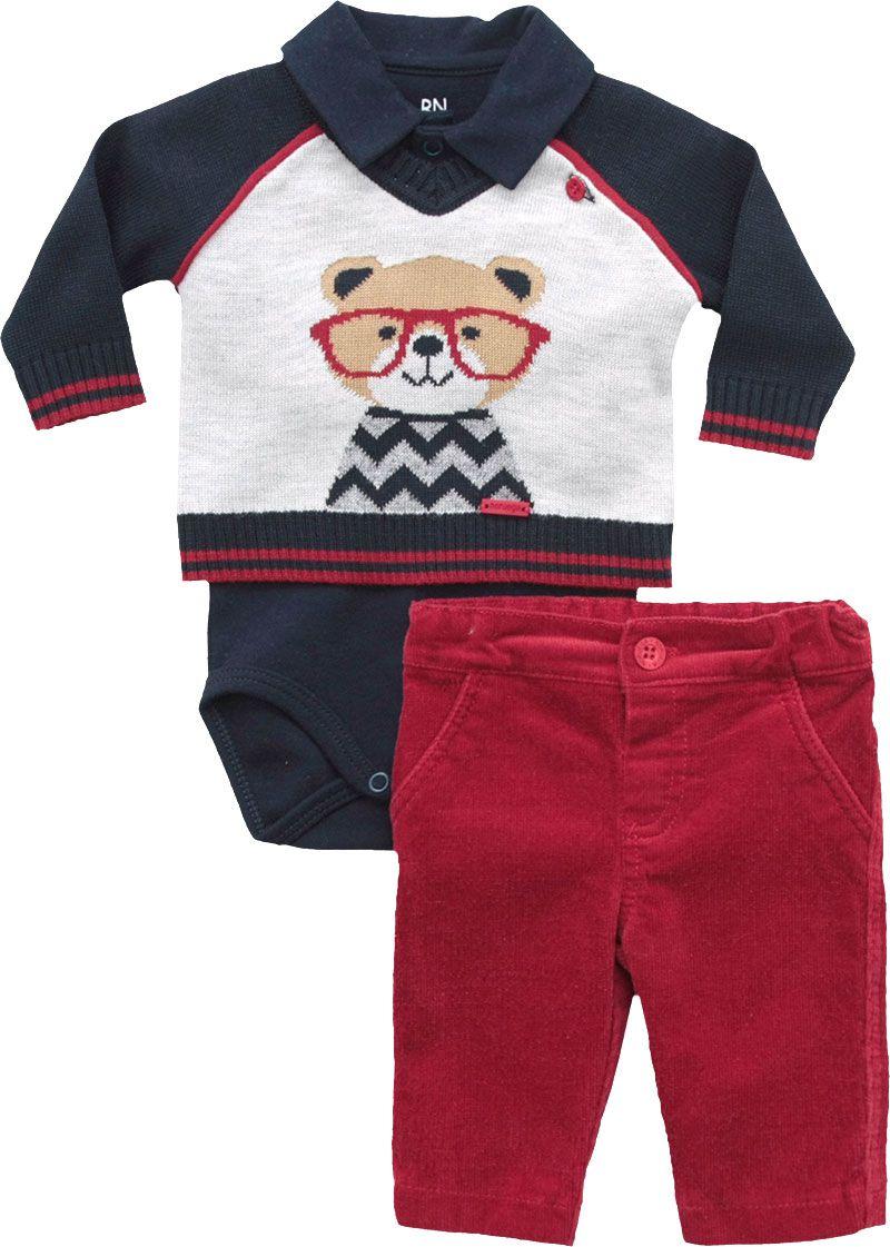 20.669 - Conjunto Body Sweater Jacquard Urso