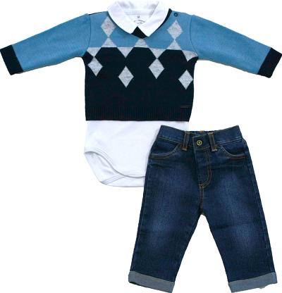 20.744 - Conjunto Body Sweater c/ Losangos