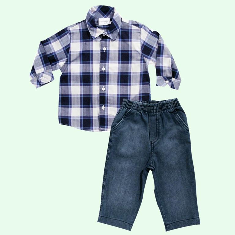 Conjunto Camisa Xadrez  - Loja Noruega