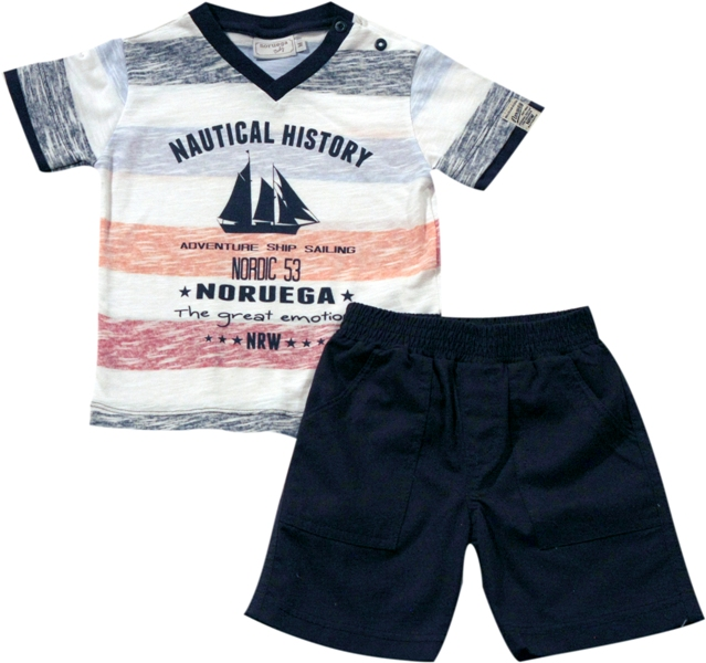 21.531 - Conjunto Camisa Silk Nautical