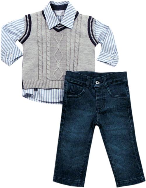 21.567 - Conjunto Camisa Listrada c/ Colete