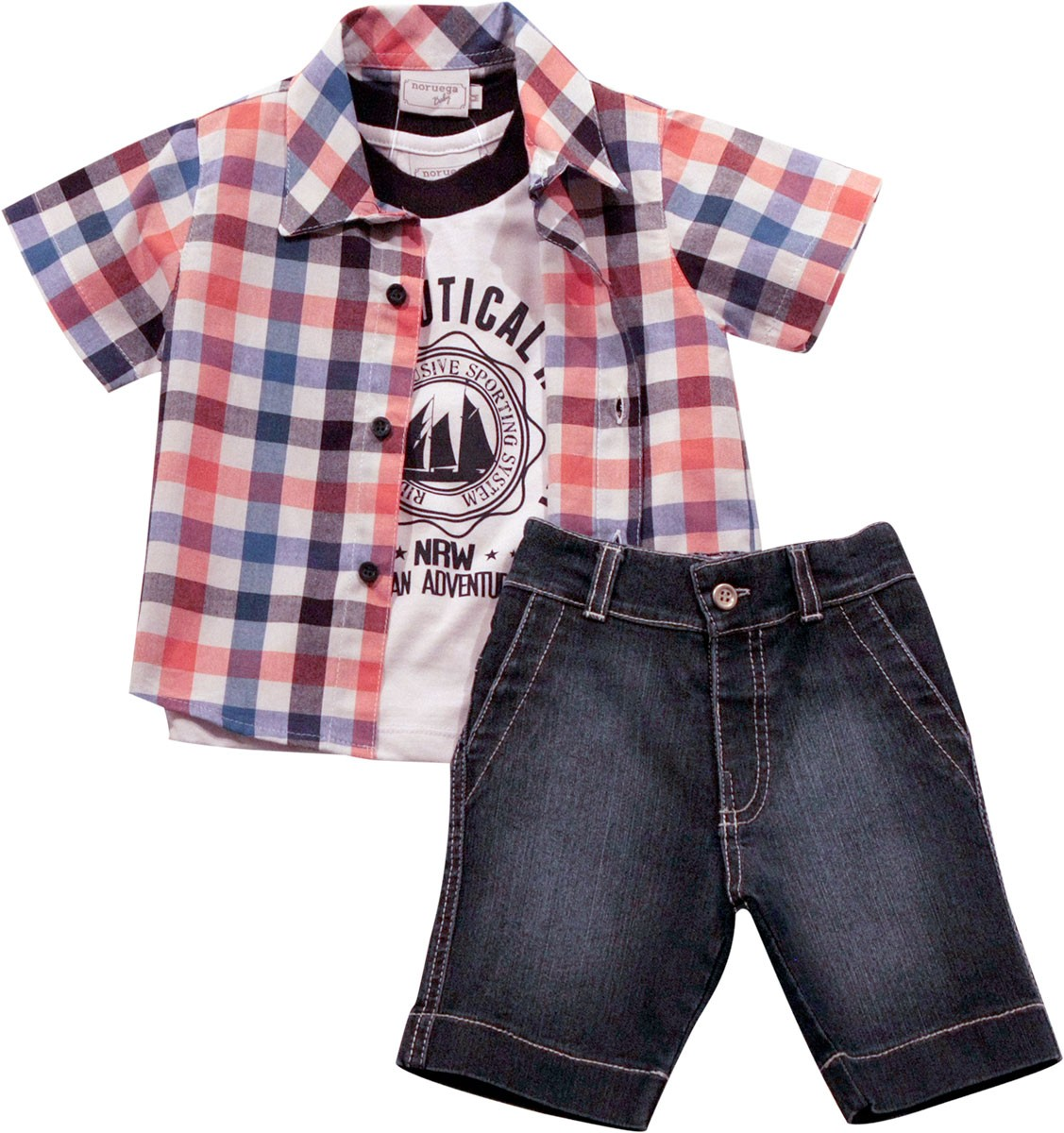 21.610 - Conjunto Camisa Xadrez