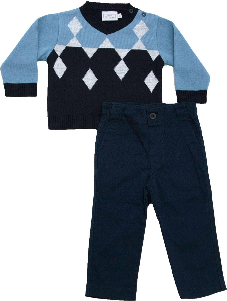 21.0006 - Conjunto Sweater Jacquard Losangos