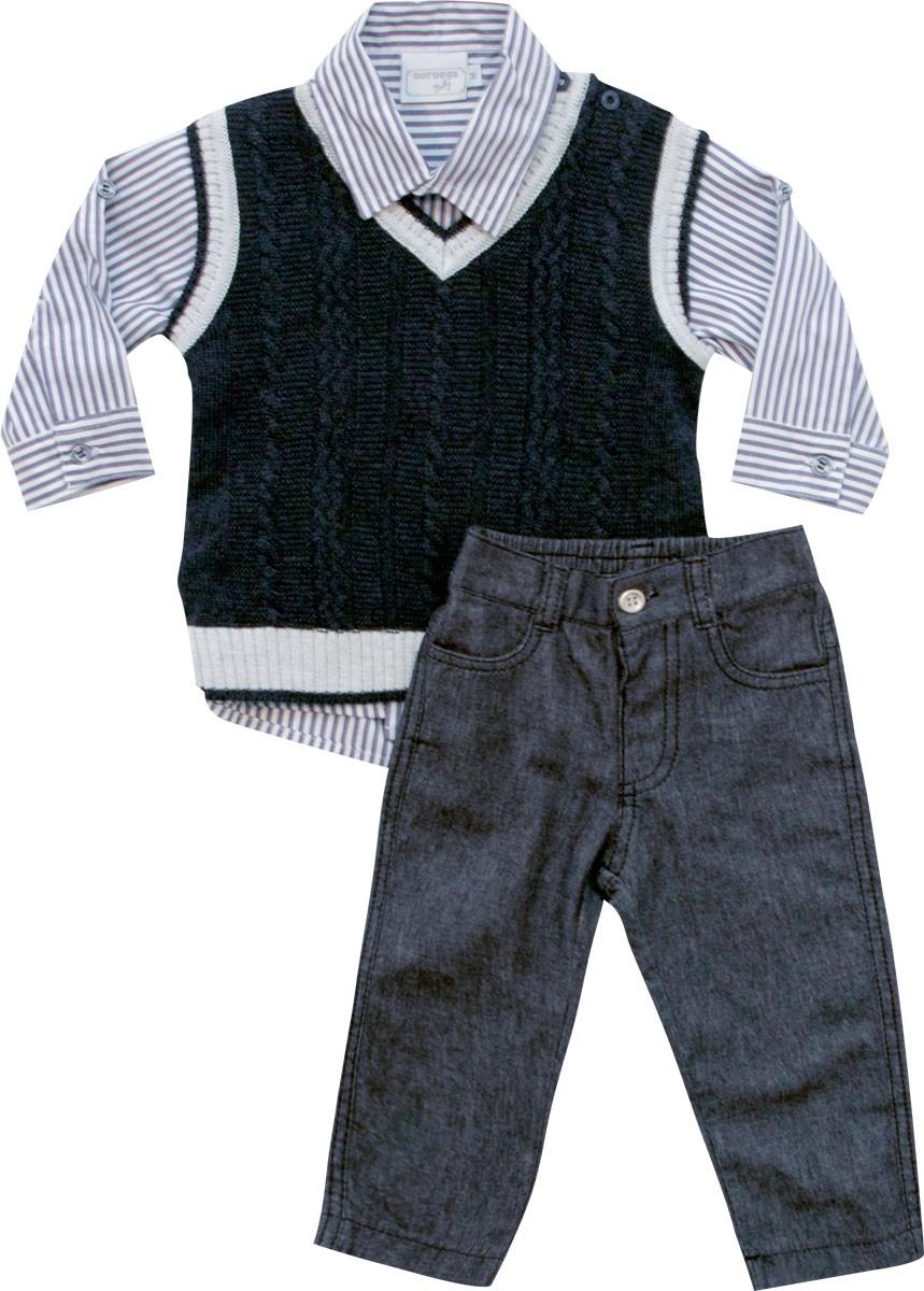 21.652 - Conjunto Colete com Camisa Listrada