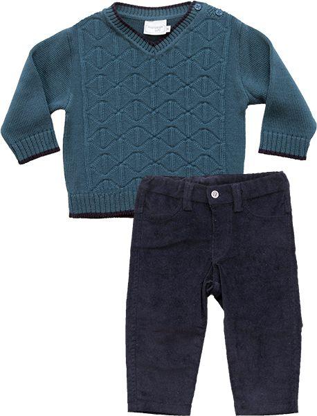 21.705 - Conjunto Veludo Sweater com Relevo