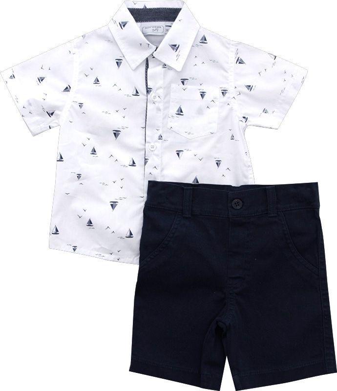 21.741 - Conjunto Tricoline Camisa Barquinhos