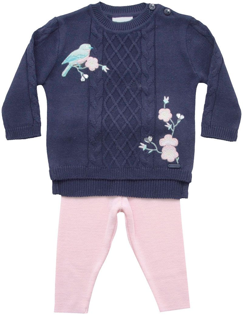 21.762 - Conjunto Sweater Bordado Pássaro