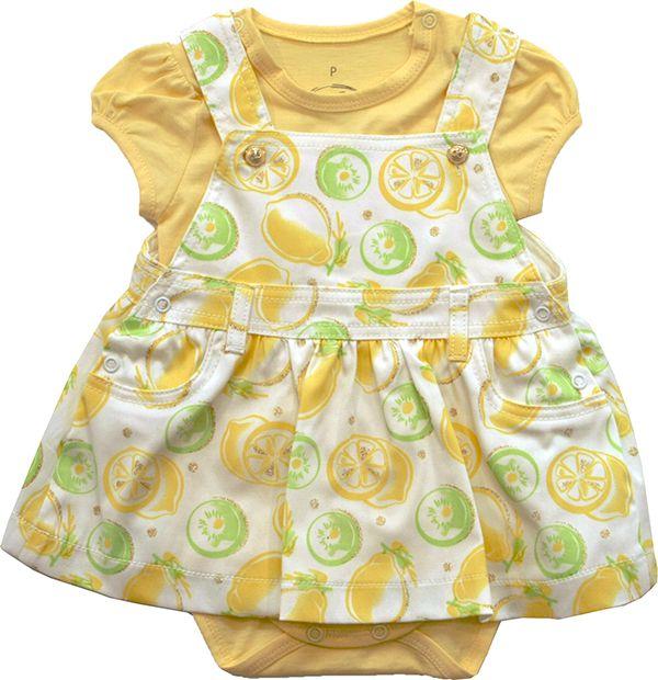 30.032 - Body Conjunto Jardineira Silk com Limões
