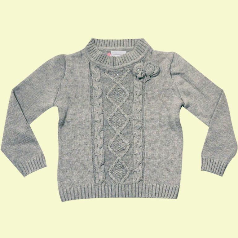 Sweater com Tranças e Flor  - Loja Noruega