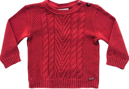 51.268 - Sweater Jacquard Trança Centralizada