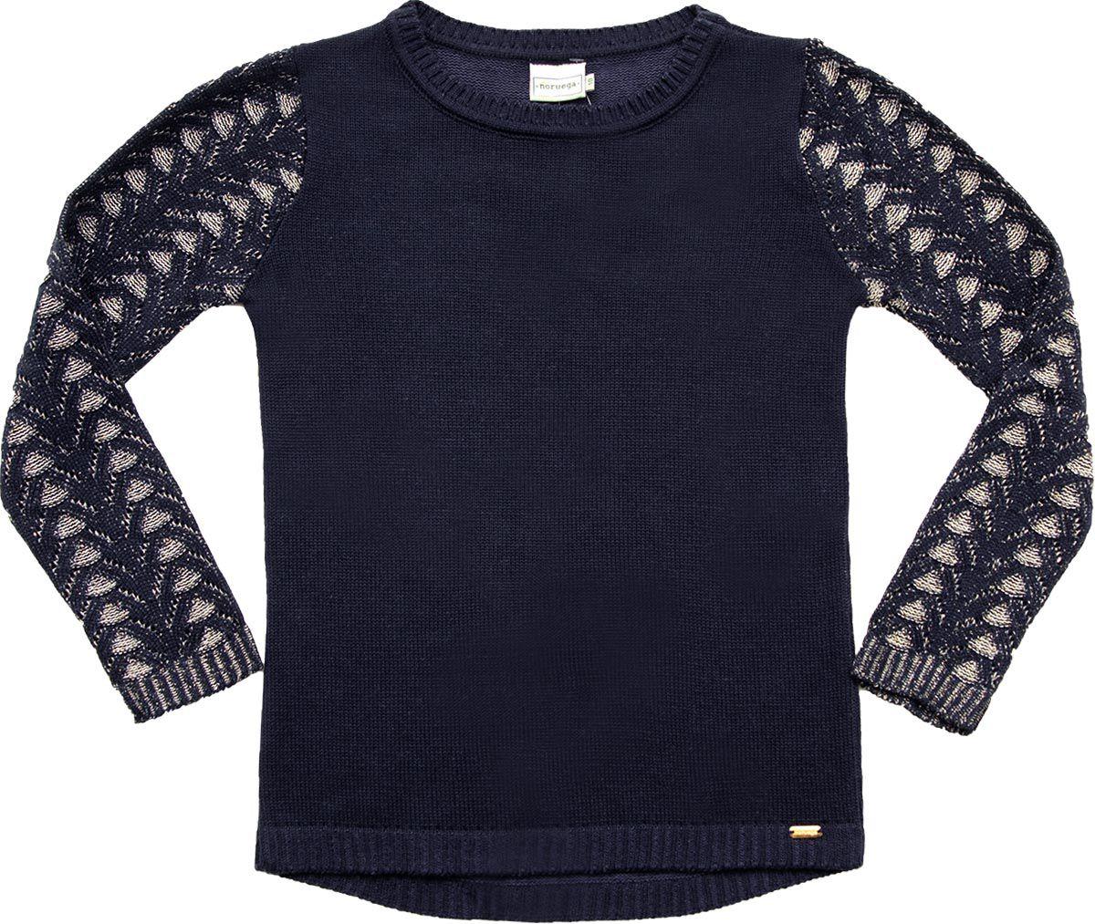 51.276 - Sweater Jacquard Folha com Lurex