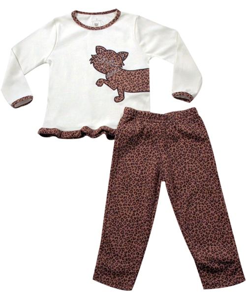 61.018 - Conjunto Pijama Silk Onça