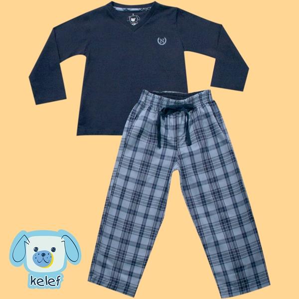 61.027 - Conjunto Pijama Silk Xadrez
