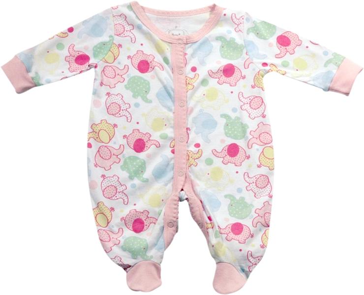 61.030 - Pijama Macacão Silk Elefantinhos