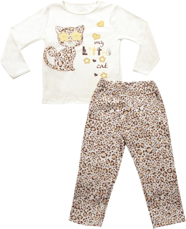 62.145 - Conjunto Pijama Bordado Gato