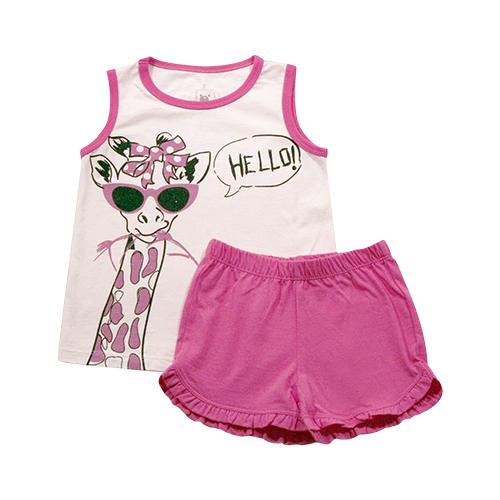 62.193 - Conjunto Pijama Silk Girafa Hello