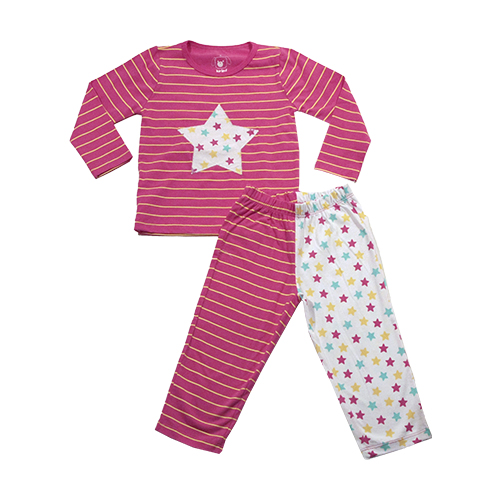 Conjunto Pijama Listras e Estrelas