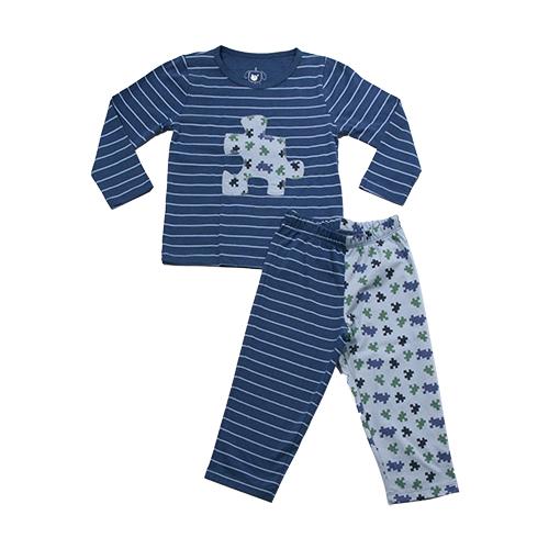 62.200 - Conjunto Pijama Listras e Quebra Cabeca