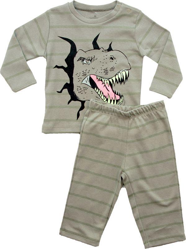 62.217 - Conjunto Pijama Dinossauro com Listras
