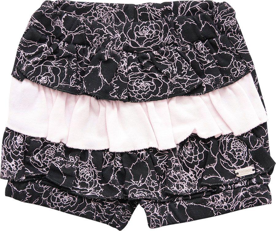 70.0025 - Shorts com Flor Filetadas