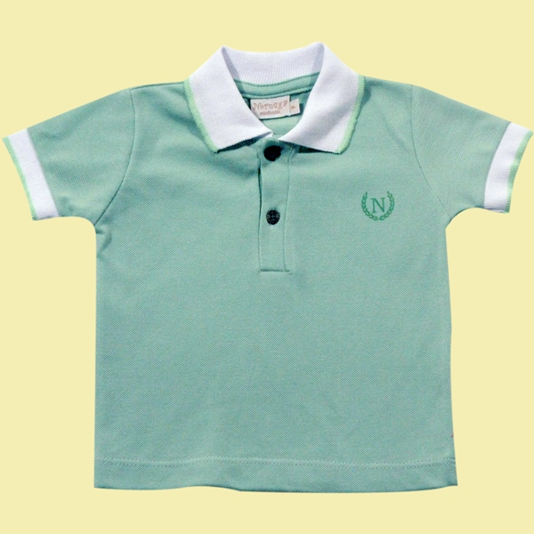 81.180-Camisa Polo Friso Gola e Mangas