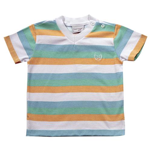 81.199 - Camiseta Com Listras Coloridas