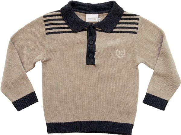 81.211 - Camisa Polo com Listras no Ombro