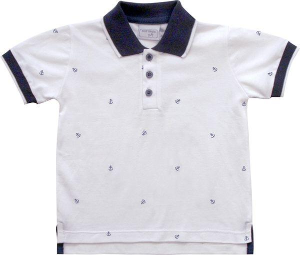 81.222 - Camisa Piquet Gola Âncoras