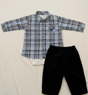 AE20.047 - Conjunto Body Camisa Xadrez
