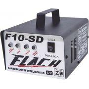 Carregador de Bateria Automático 12V Flach F10-SD