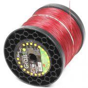 Bobina de Fio de Nylon Para Roçadeira 3mm Redondo 2KG