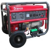 Gerador de Energia Branco B4T 8000E  6.5 kva Partida Elétrica